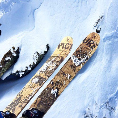 ripnwud handmade wood core ski20
